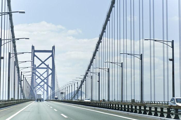 Ehime Japan Bridge Day No People Okayama Outdoors Road Sky The Way Forward Transportation 瀬戸大橋 Fresh On Market 2017