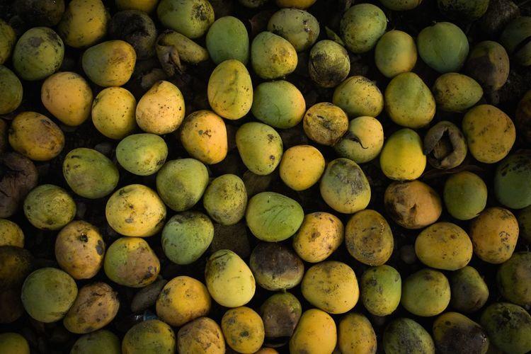 Full frame shot of mangoes at market