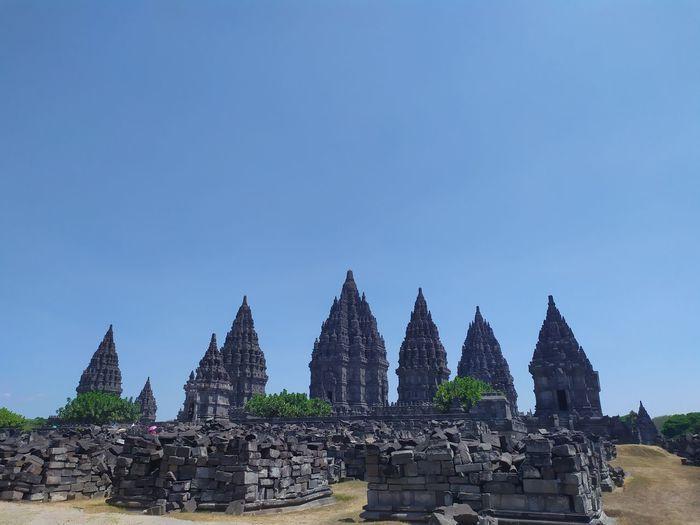 Temple against blue sky