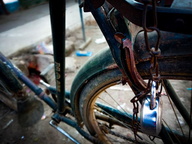 Transportation Mode Of Transport Land Vehicle Bicycle Tire Wheel Day Vehicle Part No People Outdoors Close-up City SrreetPhoto EyeEmNewHere Be. Ready.