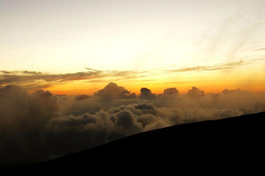 夕陽が沈んだ後の雲海 Landscape Mountain Nature Sky Cloud - Sky Scenics Beauty Beauty In Nature 登山 白山 雲海 Healing Japan Outdoors Sunset Nature Beauty In Nature