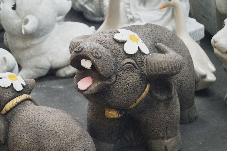 Close-up of elephant statue