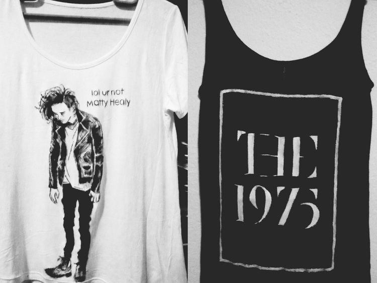 MINE!! The1975 Handmade Tshirt Matty Healy Lovely seeing them again on october 26th