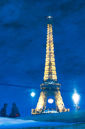 Blue Effel Tower Famous Place Illuminated Light Monument Night Night Lights Paris Shadow Streetphotography Tourism Travel Destinations