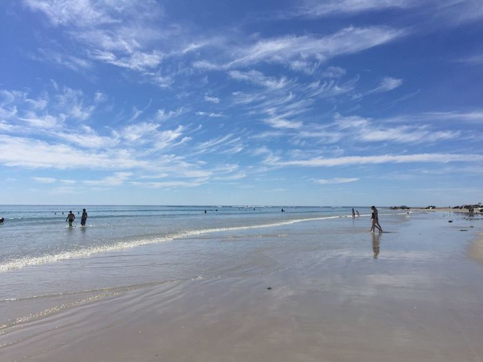 Miles Away Silver Sands Beach Sea Beach Horizon Over Water Sand Sky Water Nature Real People Shore Scenics Walking Cloud - Sky Outdoors Beauty In Nature Vacations Day People Relections