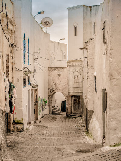 Tunis Alley Architecture Building Exterior Built Structure Day No People Outdoors Sky The Way Forward