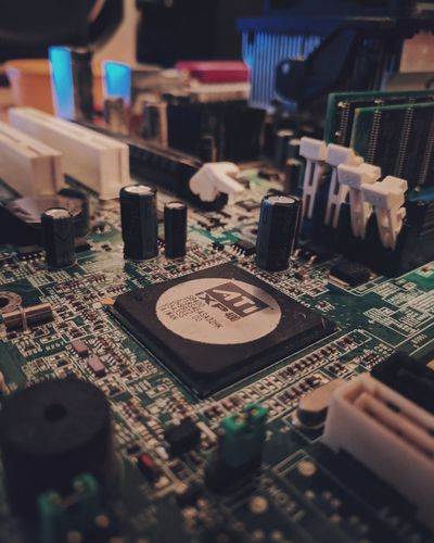 Motherboard Geek Technology Southbridge Ati Oldschool PCB First Eyeem Photo