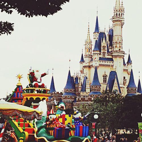Tokyodisneyland Santa Claus Parade Cinderella Castle