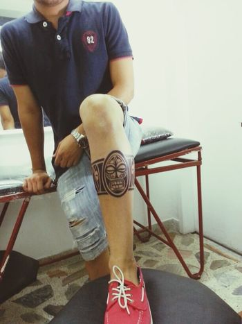 Tatto maori Maori Tattoo Totem Legtattoo  InkPowerTattoostudio Love ♥