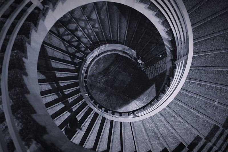 steps HongKong Discoverhongkong Leica Leicaq Night Blackandwhite Streetphotography Streetphoto_bw EyeEmBestPics EyeEmbestshots EyeEmBestEdits EyeEm Gallery Cycle Circle Spiral Steps