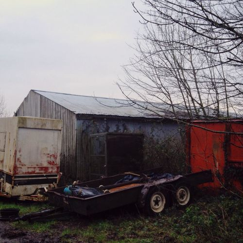 Overcast January Devon Country Life Countryside Rural Scenes Landscape Red After The Rain Rural Landscape Wintertime Barn Mud Farmyard Decay Still Life Trailer