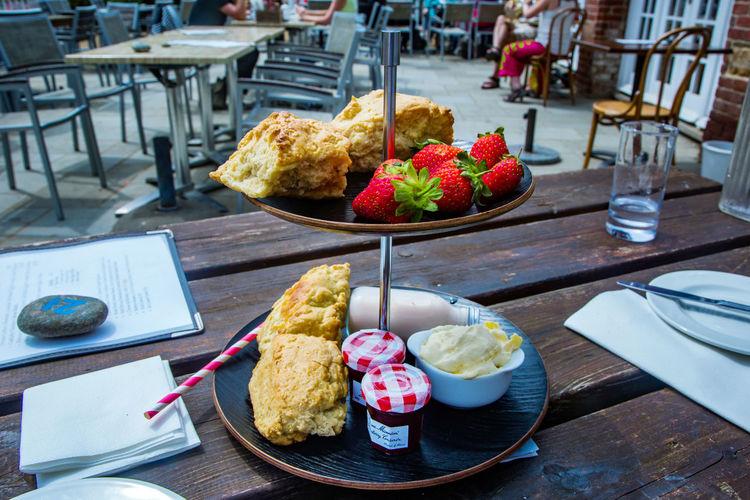 Isle Of Sark Butter Food Jam Restaurant Sark Sark Cream Tea Strawberry