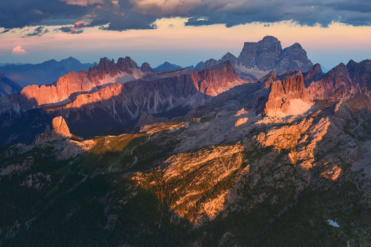 Sunset Cloud Dolomites Dolomites, Italy Heaven Nature Sunset_collection Clouds Italy Landscape Light And Shadow Mountain No People Rocks Scenics - Nature Sun Sunset