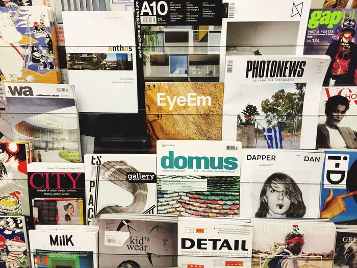 Finally our EyeEm Magazine in the best bookstore in germany.