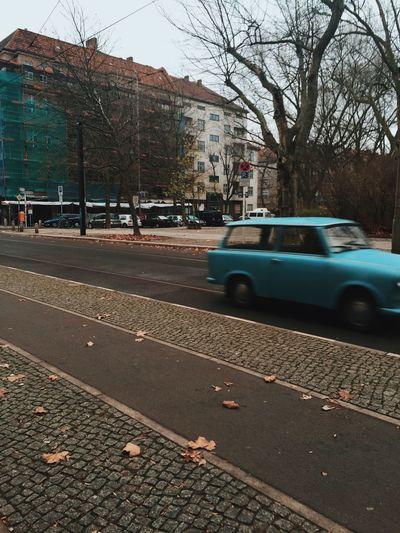 Car on city street