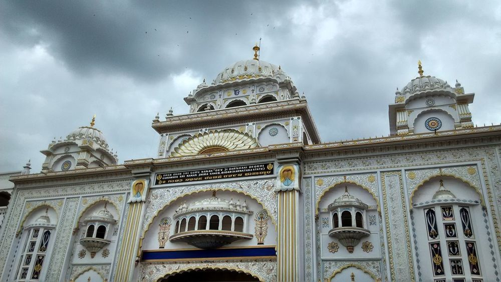 Arch Architecture Building Exterior Built Structure City Cloud - Sky Day Dome Low Angle View No People Outdoors Place Of Worship Religion Sikh Temple Sky Spirituality Travel Destinations