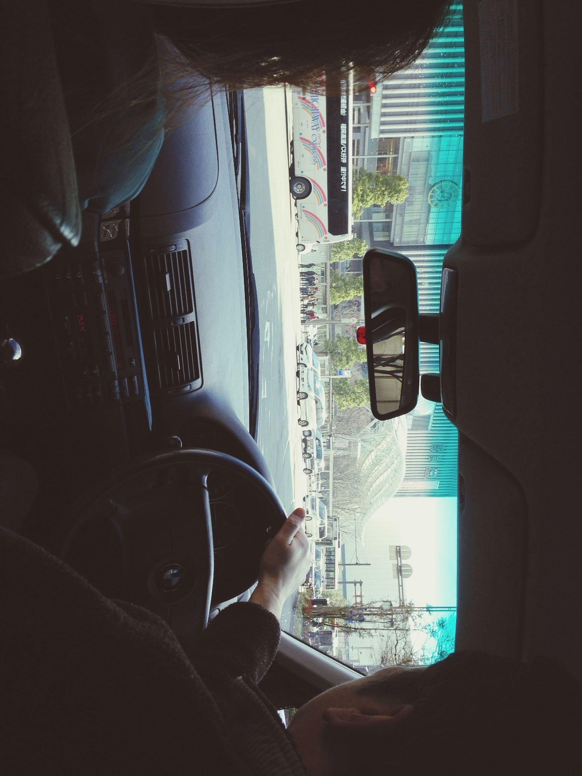 transportation, vehicle interior, mode of transport, land vehicle, car, car interior, glass - material, window, travel, transparent, windshield, lifestyles, men, leisure activity, looking through window, public transportation, driving, journey