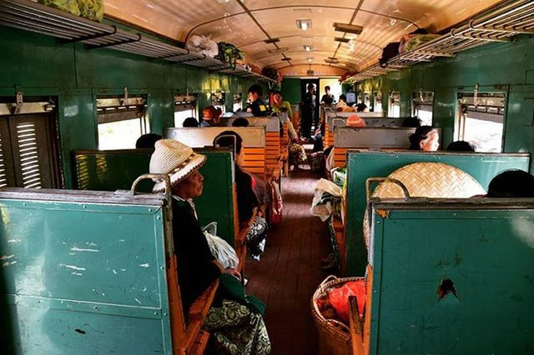 Train ride to Hsipaw in Myanmar. Pyinoolwin Hsipaw Myanmar Trainride Train Travel Backpacking Solotravel Southeastasia Locals