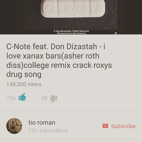Double post I DC it's relevant lol.. C .note Asherroth Diss Ilovexanax this song cracks me up. You gotta find humor in it and appreciate the sarcastic hooks lmao. DOPE