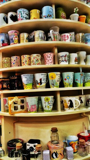 Care for a Mug? of tea, milk, coffee, juice, wine....;) Shelf Large Group Of Objects Variation Choice Multi Colored Indoors  Retail  Stack Box - Container No People For Sale Day Mug Cup Cups With Charm Cups And Mugs Mugs♥ Mugs Cafe Cupstacking Cups And Plates Cups Shelf Cups&more Cups In Frame