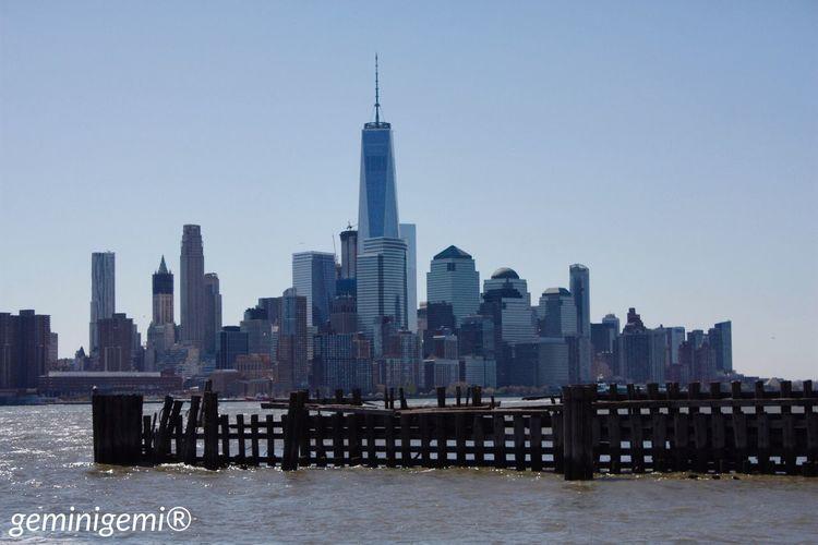 Newyork Newyorkcity 2016 April Mydream Dreamcametrue Hudsonriver Hoboken Oneworldtradecenter City NYC Love Buildings 🏙🇺🇸❤️