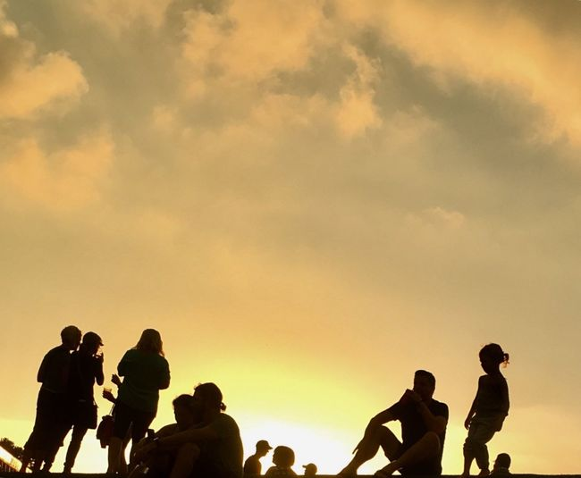 Group Of People Sky Cloud - Sky Sunset Real People Silhouette Men The Great Outdoors - 2018 EyeEm Awards 10