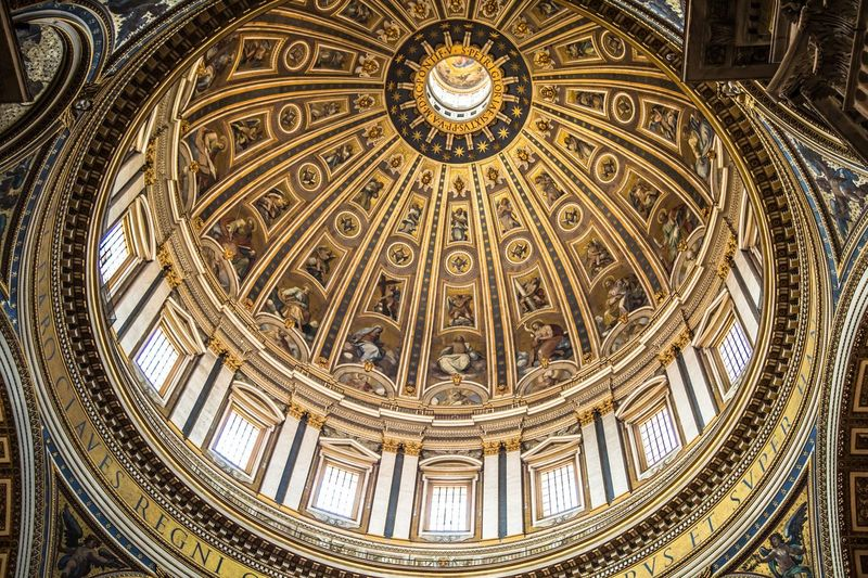The Dome Architecture Low Angle View Religion Built Structure Belief Spirituality Place Of Worship Architecture And Art Directly Below Cupola The Architect - 2018 EyeEm Awards