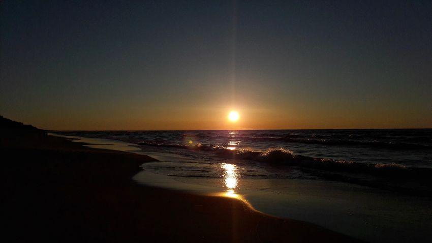 Poland Polish Seaside🌊 Sea Beach Sunset Horizon Over Water Nature Wave Landscape Water Sky Smartphonephotography
