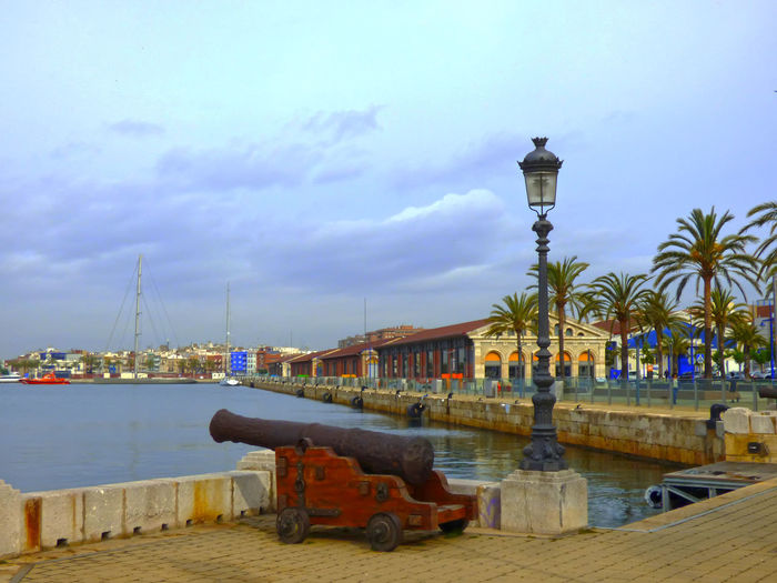Architecture Building Exterior Built Structure Day Harbor Mode Of Transport Moored Nature Nautical Vessel No People Outdoors Port Of Tarragona-Spain Sky Transportation Water