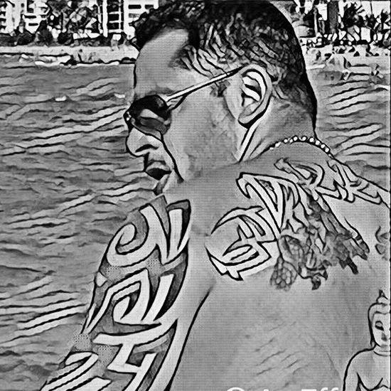 Tattoos Puerto Rico Waterfront Sideprofile Armani HighDefinition
