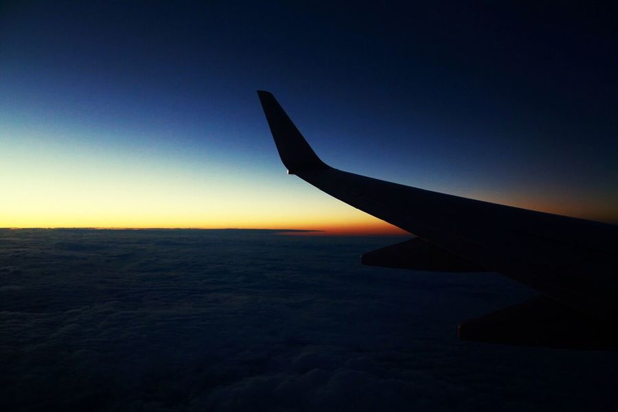 Sunset Sky Airplane