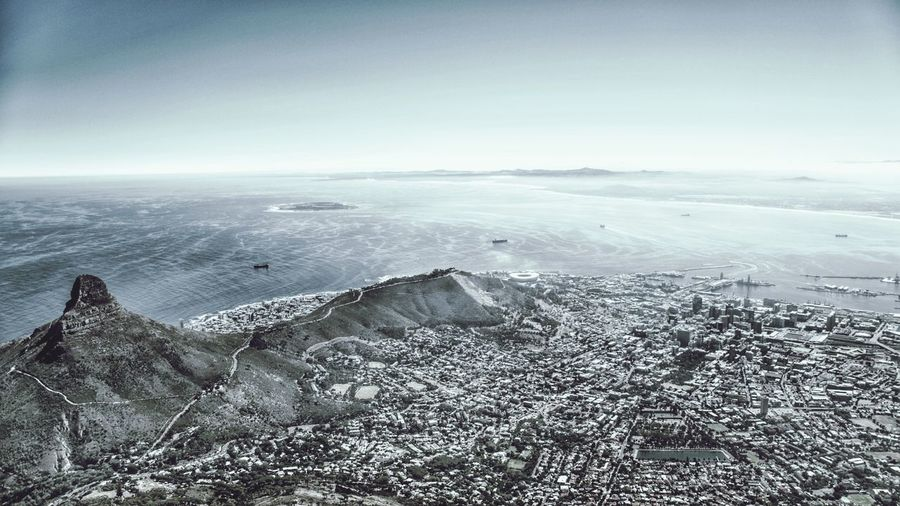 Endless Capetown Aerial View Sea Landscape Outdoors No People Nature Tranquility Scenics Horizon Over Water