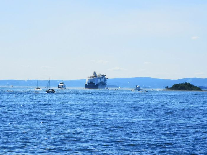 Oslofjord Oslo Norway Water Nautical Vessel Sea Clear Sky Blue Sailing Sky Horizon Over Water Seascape