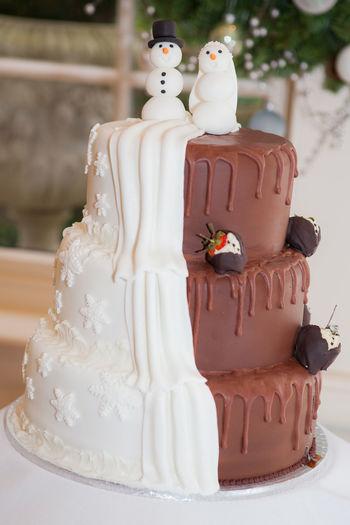 Chocolate Christmas Cake Celebration Celebration Event Christmas Wedding Dessert Food No People Sweet Food Wedding Wedding Cake Wedding Cake Figurine