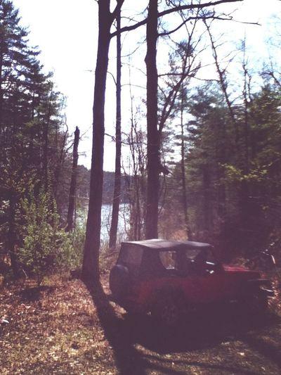 Lake Jeep Mountains