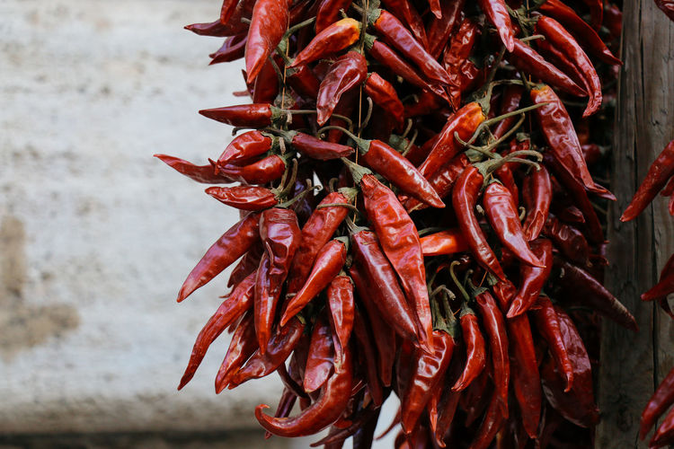 Chillis Close-up Day Food Food And Drink Freshness Healthy Eating Market No People Outdoors Red Red Chili Pepper