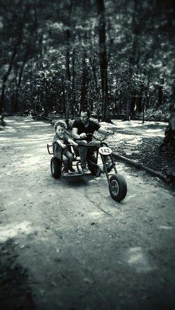 Black & White Enjoying Life Cycletour black Family