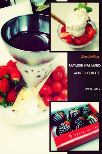 fresh strawberries only at Cameron Highlands !!!! Malaysia !!!! Enjoying Life Chocolate :D ♡♡♡♡