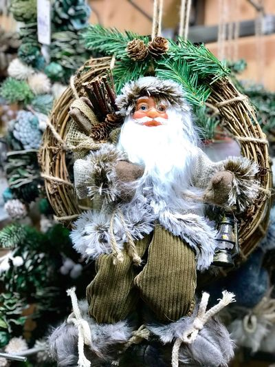 Outdoors Close-up No People Day Winter Statue Cold Temperature Figurine  Art And Craft Christmas Decoration Market Built Structure Santa Claus Doll