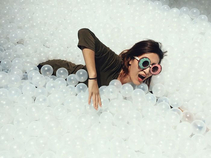 Fun Swim Ballpit Ballpool Mix Yourself A Good Time Sunglasses Young Adult One Person Play