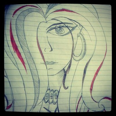 Doodles in lectures..! Doodles Red Streaks Sketch instalike
