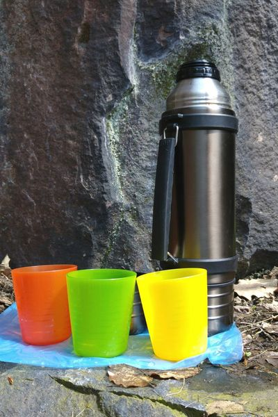 Day No People Close-up Outdoors Picknick Picknick Time Cup Colourful Rock Rocky Adventure Hiking Leisure Leisure Time Thermos Jug Thermos Flask Outdoor