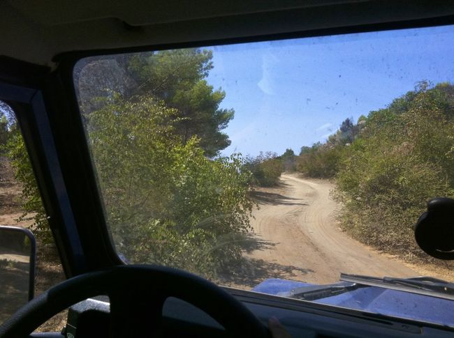 Albania Country Road Driving Around Land Rover Defender My Car Offroad On The Way Sand Wild