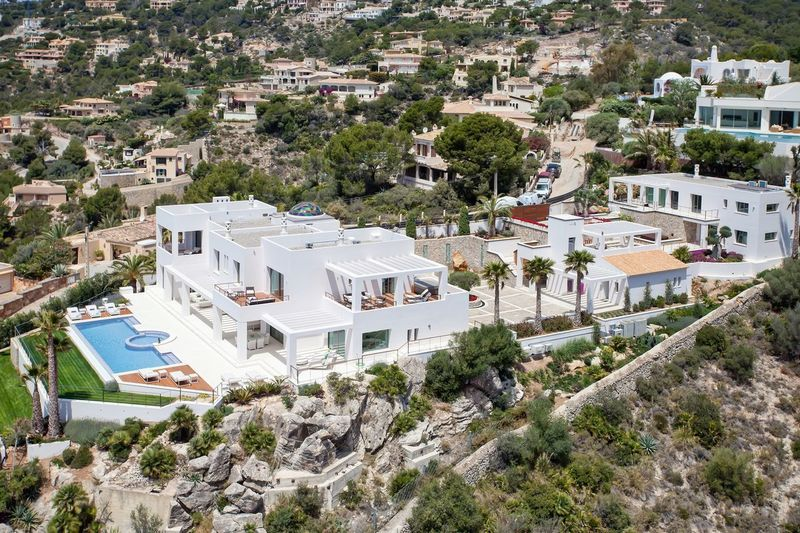 Mallorca real estate Real Estate Property Mallorca Villa Architecture Built Structure Building Exterior Plant Building High Angle View Tree Day Nature Residential District City Sunlight Outdoors Town Mountain Growth Crowd House