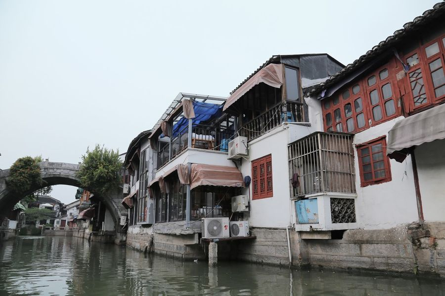 Zhujiajiao Architecture Built Structure Building Exterior Water Sky Clear Sky Building Nature No People Waterfront