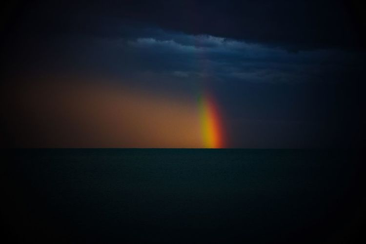 Rainbow Italy Astronomy Water Galaxy Space Sea Astrology Sign Science Star - Space Rainbow Natural Phenomenon Silhouette Seascape Sunset Dramatic Sky