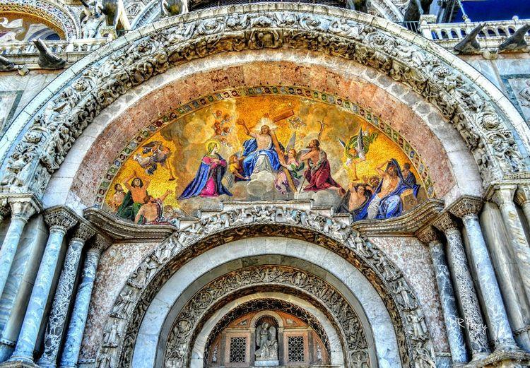 Saintmarksbasilica Venezia Venice Italy Italia Basilica Ascension Ingresso