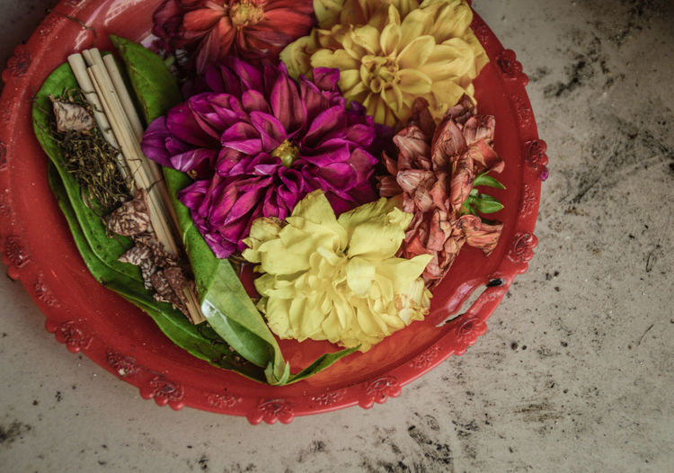 The Week On EyeEm Religious Offerings Flower High Angle View Freshness Food Healthy Eating No People Close-up Indoors  Nature Flower Head Day Fragility