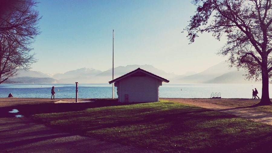 Cabanon Annecy Annecy, France Lake Annecy France  Lac D'Annecy Lake View Lakeside Winter Morning Walk Blue Sky Bluebird IPhoneography Iphone6 Enjoying Life Hello World Landscape Landscape_photography Blue Calm Relaxing