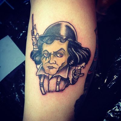 Beethoven in arancia meccanica Getting Inked No Pain, No Gain Tattoo Old School